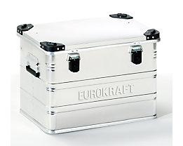 EUROKRAFT Aluminiumbehälter mit Stapelecken - Inhalt 76 l