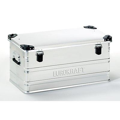 EUROKRAFT Aluminiumbehälter mit Stapelecken - Inhalt 91 l, LxBxH 782 x 385 x 379 mm