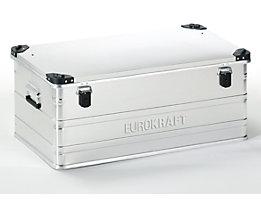 EUROKRAFT Aluminiumbehälter mit Stapelecken - Inhalt 140 l