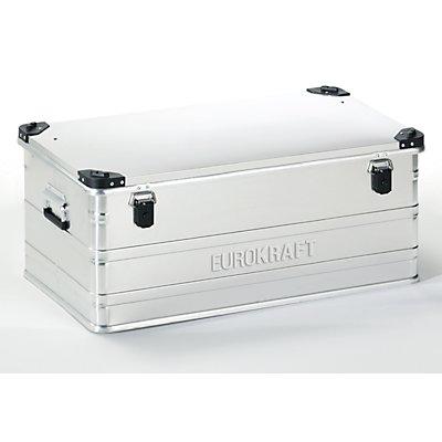 EUROKRAFT Aluminiumbehälter mit Stapelecken - Inhalt 140 l, LxBxH 902 x 495 x 379 mm