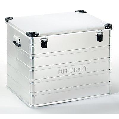 EUROKRAFT Aluminiumbehälter mit Stapelecken - Inhalt 240 l, LxBxH 782 x 585 x 622 mm