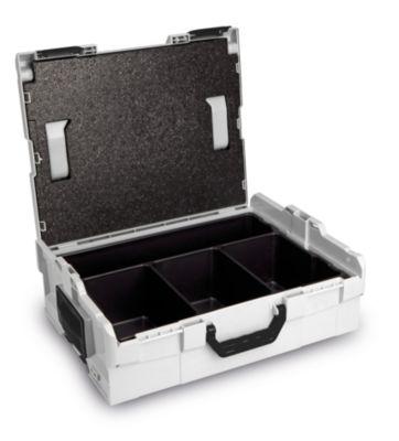 Koffer-Klick-System - L-Boxx 136 mit Deckeleinlage und 4 Muldeneinleger, BxTxH 442 x 357 x 151 mm