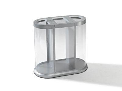 Wertstoffsammelstation, Höhe 850 mm - Korpus transparent, ohne Innenbehälter