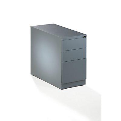 Quipo caisson fixe en acier 2 tiroirs et 1 tiroir pour dossiers suspendus - Caisson 2 tiroirs dossiers suspendus ...