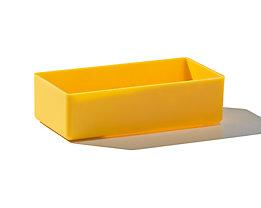 Einsatzkasten, Sondergröße - Polystyrol, VE 50 Stk - LxBxH 108 x 54 x 31 mm, gelb