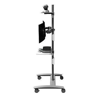 Dataflex Konferenztrolley VIEWMATE COMBO - für zwei Monitore, silber