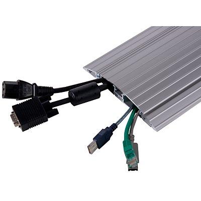 Dataflex Kabelschutz - gerade, silber