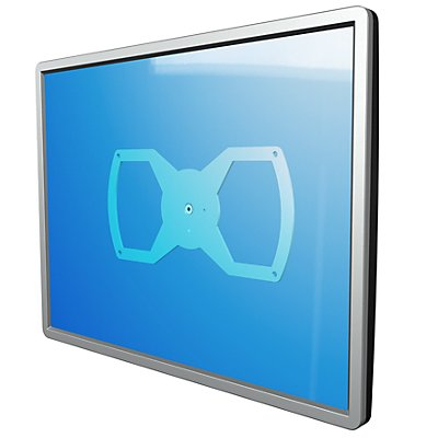 Dataflex Adapterplatte VIEWLITE - Montageanbindung 200 x 100 mm, silber / weiß