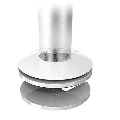 Dataflex Monitorarm VIEWLITE - höhenverstellbar, silber / weiß
