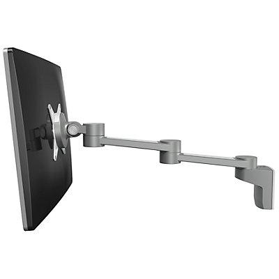 Dataflex Monitorarm VIEWLITE - zur Wandmontage, zwei Ausleger, silber / weiß