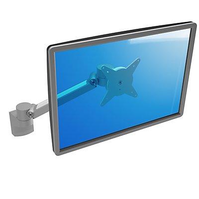 Dataflex Monitorarm VIEWLITE PLUS - zur Wandmontage, silber / weiß