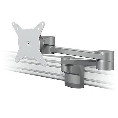 Dataflex Monitorarm VIEWLITE - für Schienensystem, zwei Ausleger, silber / weiß