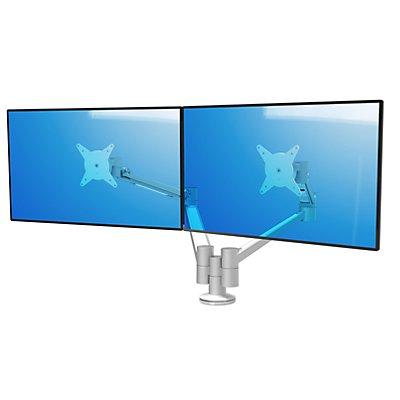 Dataflex Monitorarm VIEWLITE PLUS - für 2 Monitore, silber / weiß