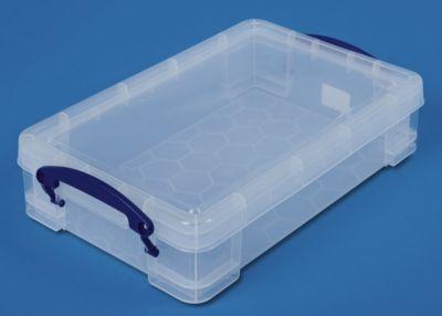 REALLY USEFUL BOX, inkl. Deckel - transparent, LxBxH 395 x 255 x 85 mm