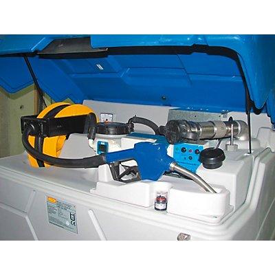 CEMO Réservoir CUBE-AdBlue® - Indoor Premium, avec couvercle rabattable, hauteur 1800 mm - capacité 1500 l