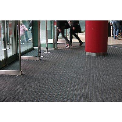 Revêtement modulaire en feutre aiguilleté - L x l 450 x 300 mm - noir / gris