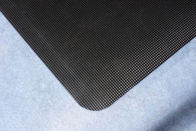 Schweißschutzmatte, ergonomisch - schwarz, pro. lfd. m - Breite 900 mm
