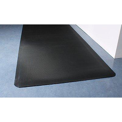 COBA Schweißschutzmatte, ergonomisch - schwarz, pro. lfd. m - Breite 900 mm