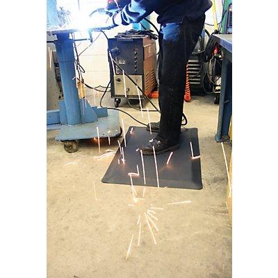 Tapis ergonomique de protection pour soudage - noir, au mètre - largeur 900 mm