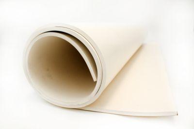 Industriegummi, Lebensmittelqualität - weiß, pro lfd. m - Breite 1400 mm