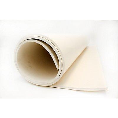 Caoutchouc industriel de qualité alimentaire - blanc, au mètre - largeur 1400 mm