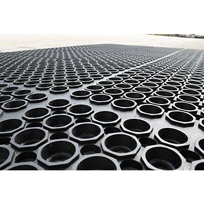 Tapis anti-fatigue, noir - unité - L x l 1500 x 900 mm