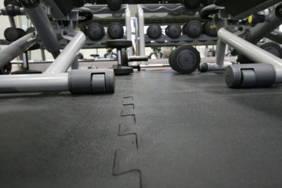 Bodenbelag, Gummi - Randstück - LxB 610 x 610 mm