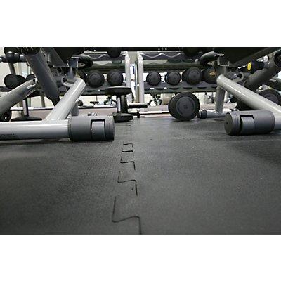 Revêtement de sol, caoutchouc - pièce terminale - L x l 610 x 610 mm
