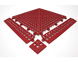 Lisière de plancher Flexi - sans latte de liaison, lot de 3 - rouge