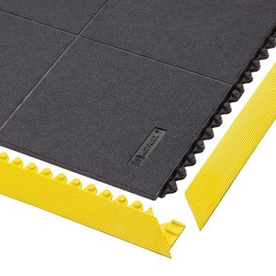 Bodenplatten-Stecksystem, Naturgummi, geschlossen - LxBxH 910 x 910 x 19 mm - schwarz