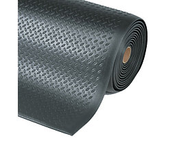 Arbeitsplatzmatte, PVC - Breite 910 mm, pro lfd. m - schwarz
