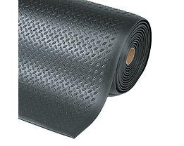 Arbeitsplatzmatte, PVC - Breite 1220 mm, pro lfd. m - schwarz
