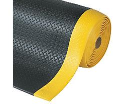 Arbeitsplatzmatte, PVC - Breite 1220 mm, pro lfd. m - schwarz/gelb