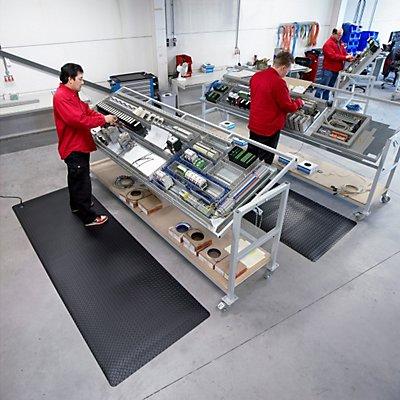 Notrax Arbeitsplatzmatte, ESD - Breite 910 mm, pro lfd. m - schwarz
