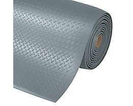 Arbeitsplatzmatte, PVC - Breite 600 mm, pro lfd. m - grau