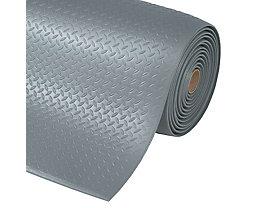 Arbeitsplatzmatte, PVC - Breite 1220 mm, pro lfd. m - grau