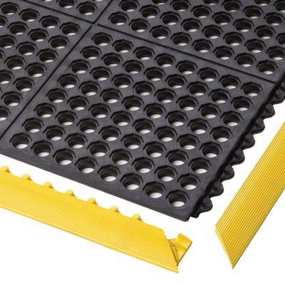 Bodenplatten-Stecksystem, Nitrilgummi - LxBxH 910 x 910 x 19 mm - gelocht