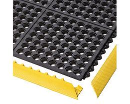 Système emboîtable en caillebotis en caoutchouc-nitrile - L x l x h 910 x 910 x 19 mm