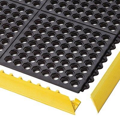 Notrax Bodenplatten-Stecksystem, Nitrilgummi - LxBxH 910 x 910 x 19 mm - gelocht