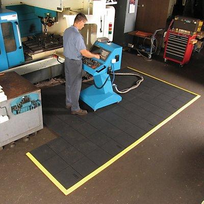 Système emboîtable en caillebotis, plein - L x l x h 910 x 910 x 19 mm - noir