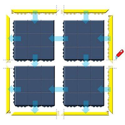 Système emboîtable en caillebotis, antistatique - L x l x h 910 x 910 x 19 mm, plein - noir