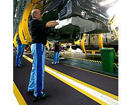 Tapis pour poste de travail, hauteur 19 mm - largeur 600 mm, au mètre