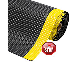 Arbeitsplatzmatte, Höhe 19 mm - Breite 600 mm, pro lfd. m - schwarz/gelb