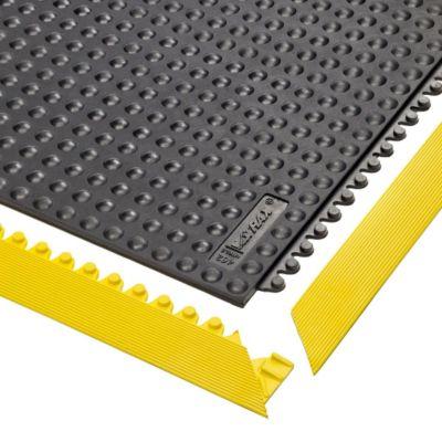 Bodenplatten-Stecksystem, Nitrilgummi, genoppt - LxBxH 910 x 910 x 13 mm - schwarz