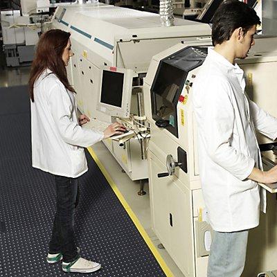 Notrax Bodenplatten-Stecksystem, ESD genoppt - LxBxH 910 x 910 x 13 mm - schwarz
