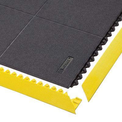 Bodenplatten-Stecksystem, Naturgummi, ESD geschlossen - LxBxH 910 x 910 x 19 mm - schwarz