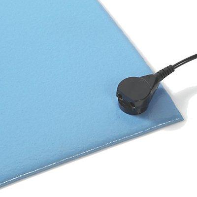 Tapis de table antistatique - bleu, au mètre