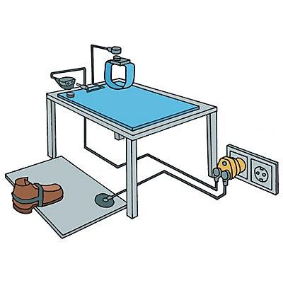 Tischmatte, ESD - blau, pro lfd. m