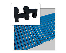 Pièce de liaison noire - pour tapis antidérapant - pour raccord 90°