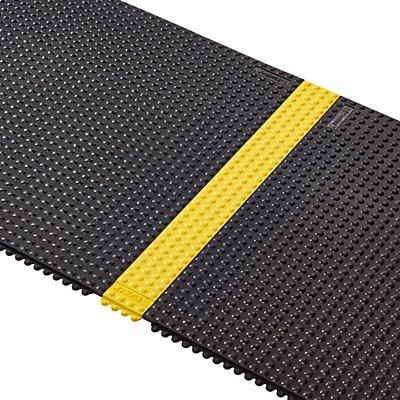 Notrax Randleiste, gelb - LxBxH 910 x 100 x 13 mm - genoppt